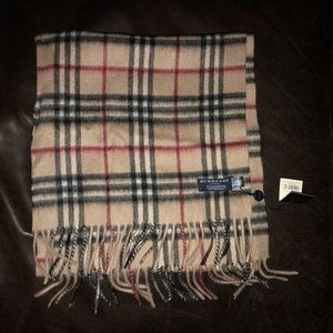Burberry Check Cashmere Scarf New With Tags